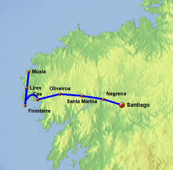 Finisterre and Muxia camino